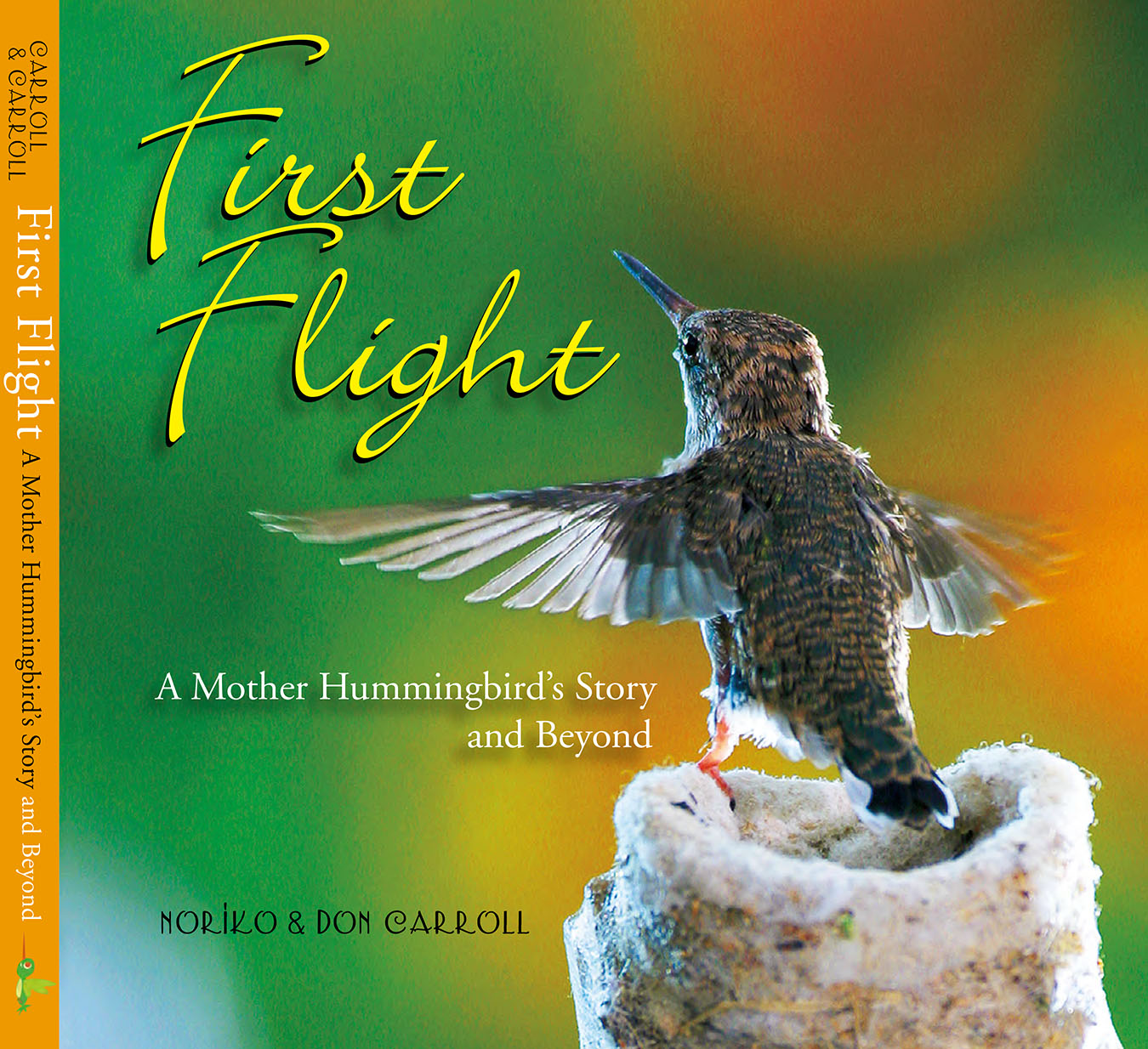 First Flight is the beautifully photographed story of Honey and her two chicks, Ray and Zen. In over fifty stunning, full-color close-ups, it captures the grace, the beauty, and the simultaneous strength and fragility of one of nature's tiniest birds. Professional photographer Don Carroll's images of his tiny housemates are woven throughout with Noriko's charming narrative describing the mother bird and her developing brood. Not just for bird enthusiasts, First Flight is a magical mix of hummingbird field guide, personal story, and new life taking flight. Readers will be captivated by the inherent drama as it unfolds in miniature, and they'll cheer as babies Ray and Zen make their own first flights out into a bright new world.